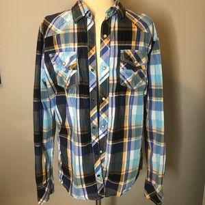 BKE vintage plaid shirt - men's large